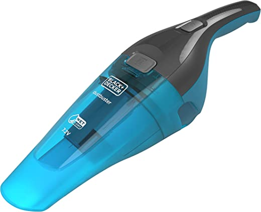 Black+Decker 7.2V Wet and Dry Handheld Vacuum, Grey/Blue - WDC215WA-B5