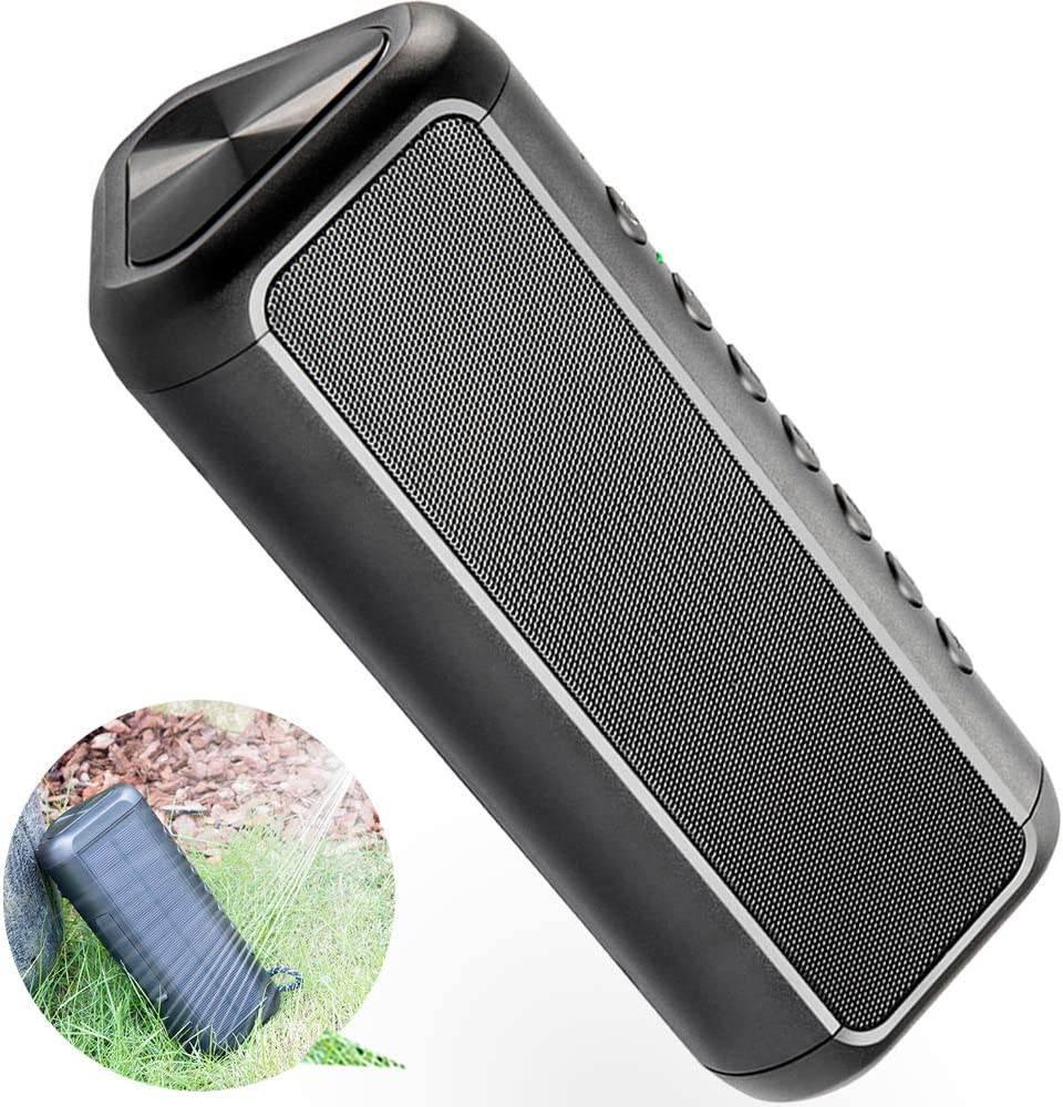 IPX6 Waterproof Portable Wireless Speaker for Outdoor /& Indoor Elzle Bluetooth Portable Speake 50 Hours Playtime Stereo Paring 12W Subwoofer Solar Bluetooth Speaker with 5000mAh Protable Power Bank