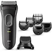 Braun Series 3 Shave&Style 3000BT 3-in-1 Electric Shaver With Precision Trimmer And 5 Comb Attachments - International…