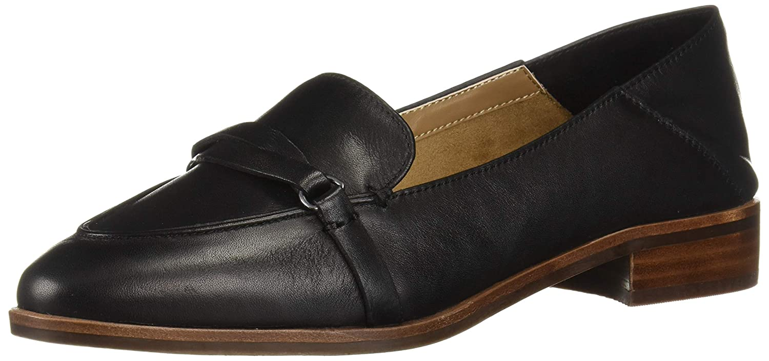Black Leather Aerosoles Womens South East Penny Loafer