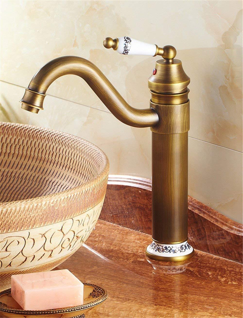 Eeayyygch Europäische antike küchenarmatur kreative einfach über gegenbecken Wasserhahn einzigen Wasserhahn einzigen Wasserhahn (Farbe   -, Größe   -)