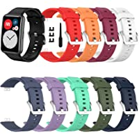 SenMore 【10-delig】 Bandjes compatibel met Huawei Watch Fit Armband Vervanging Polsband Sport Siliconen Band Geschikt…