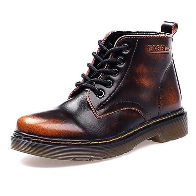 f22e31dbc8694 SITAILE Unisex-Erwachsene Stiefeletten Leder Winterschuhe Outdoor Knöchel  Stiefel Winter Boots für Herren Damen,