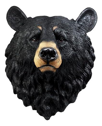 Amazon.com: Ebros Gift Large Olympic Black Bear Head Wall Decor ...