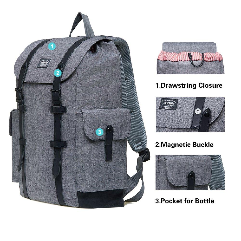 KAUKKO Rucksack Damen Damen Damen Herren Vintage Reiserucksack für 14  Notebook Lässiger Daypacks Schultaschen B073QN5TG7 Ruckscke In hohem Grade geschätzt und weit Grünrautes herein und heraus b5821e