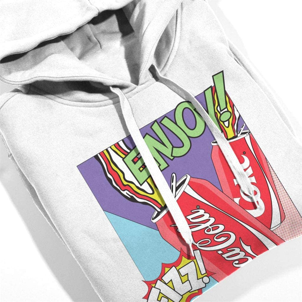 Coca-Cola Pop Art Fizz Mens Hooded Sweatshirt