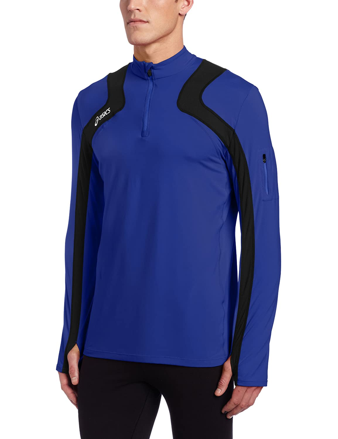 Asics Herren Team Tech Half Zip, Herren, Royal schwarz, Medium