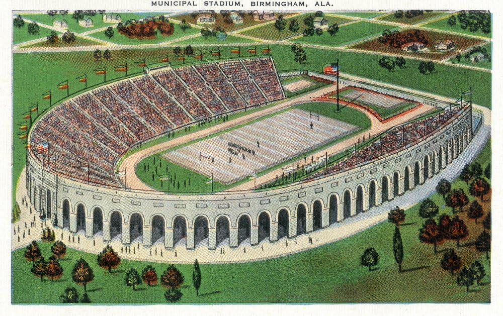 Birmingham, Alabama – Antena view de municipales estadio ...