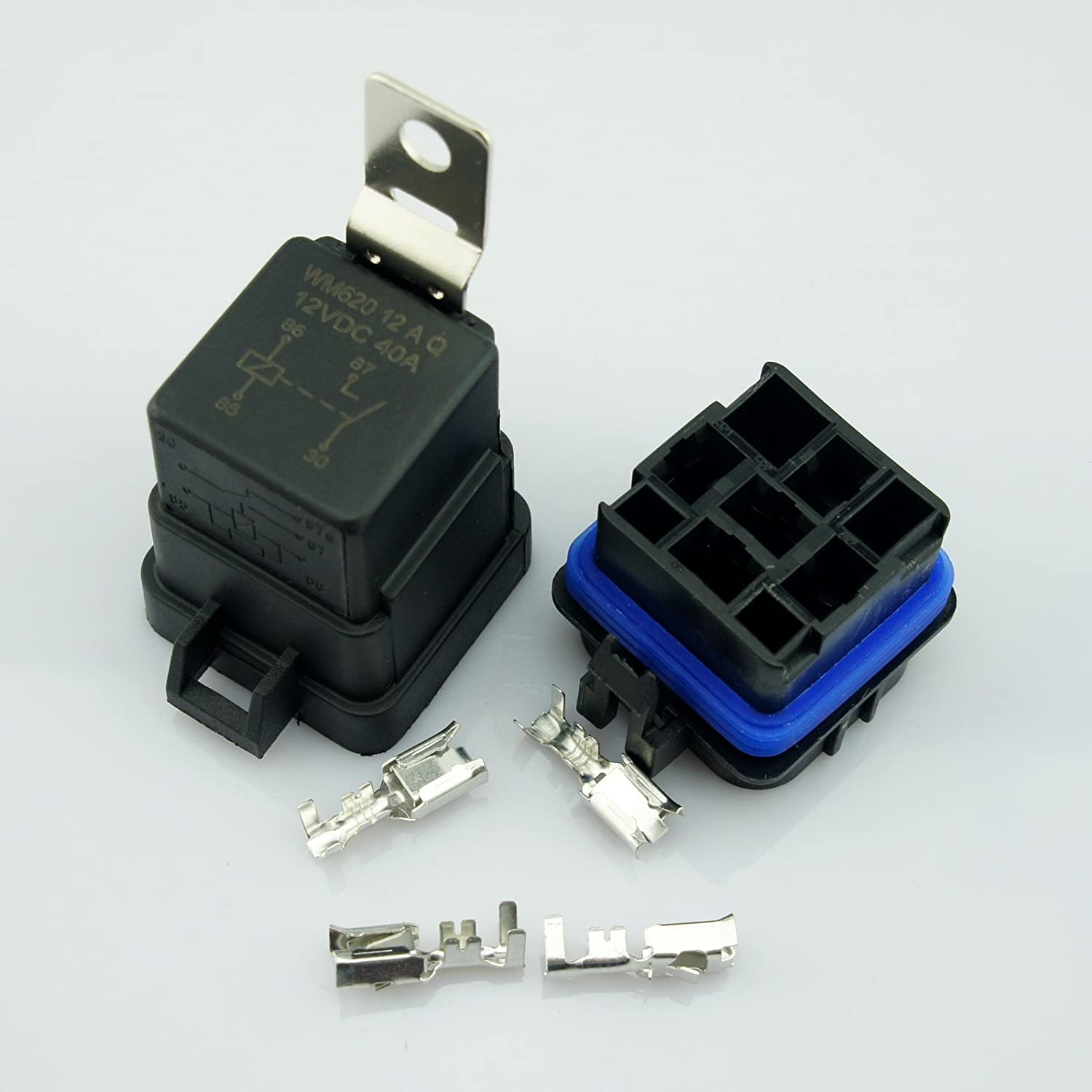 DC 12V 40A Universal Car Vehicle 4-Pin Waterproof Sealed Integrated Relay Socket Kit WLS AA098