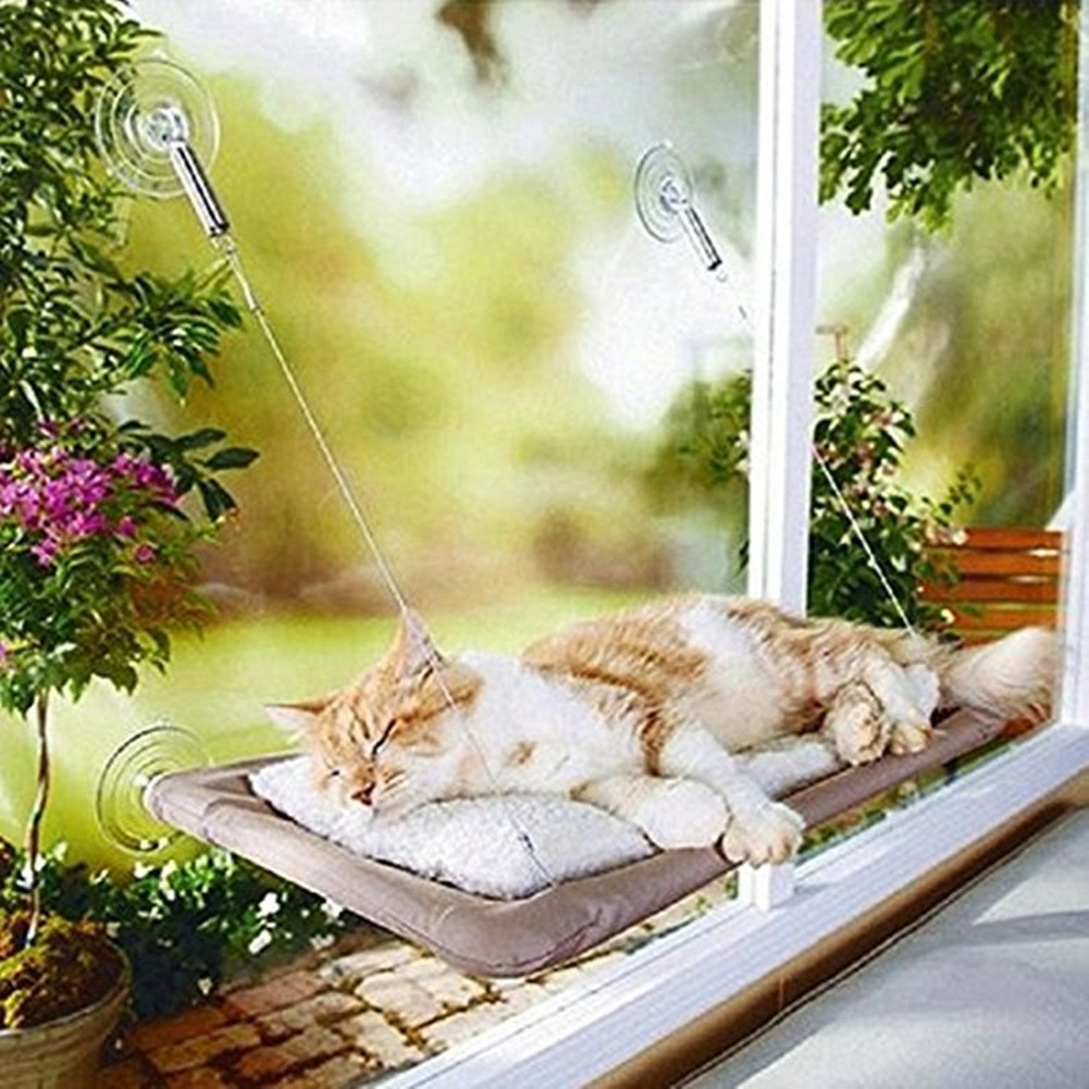 Pet Hammock Window Perches BedLoveQmall Sturdy Suction Cup Cat Bed For Pet Cats