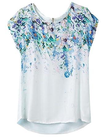Sheinside - Camiseta - Túnica - para mujer blanco blanco: Amazon.es: Ropa y accesorios