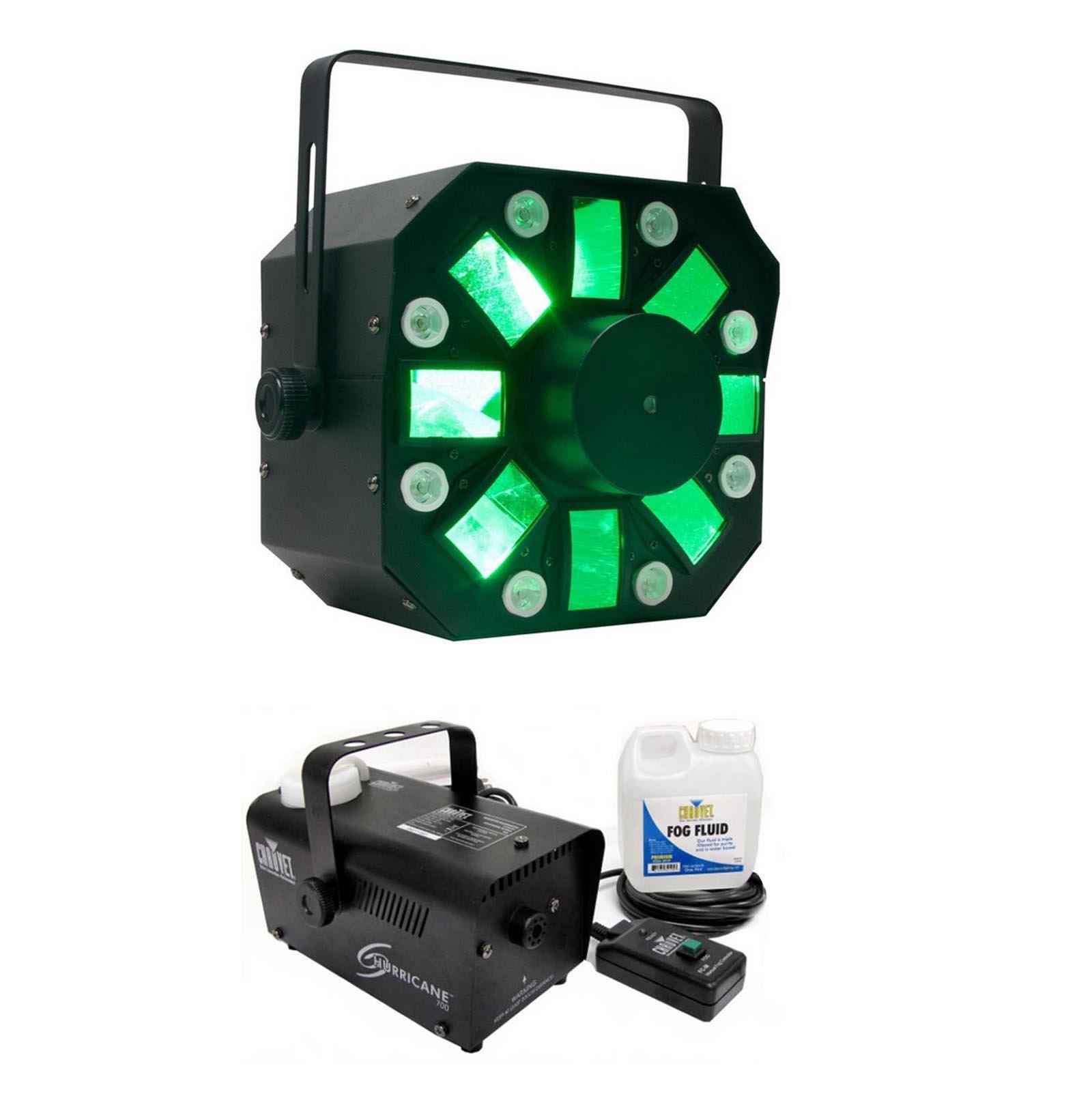 American DJ Stinger DMX LED Light Effect w/ Chauvet Hurricane H700 Fog Machine