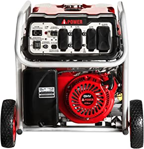Ai Power SUA12000EC 12000-Watt Gas Powered Generator W/Electric Start (CARB/EPA), Wheel Kit Included