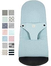 Fundas BCN® F185/6101 - Funda para Hamaca BabyBjörn ® Balance, Soft y Bliss - Apta para Todos los Modelos - Estampado Blue Safari