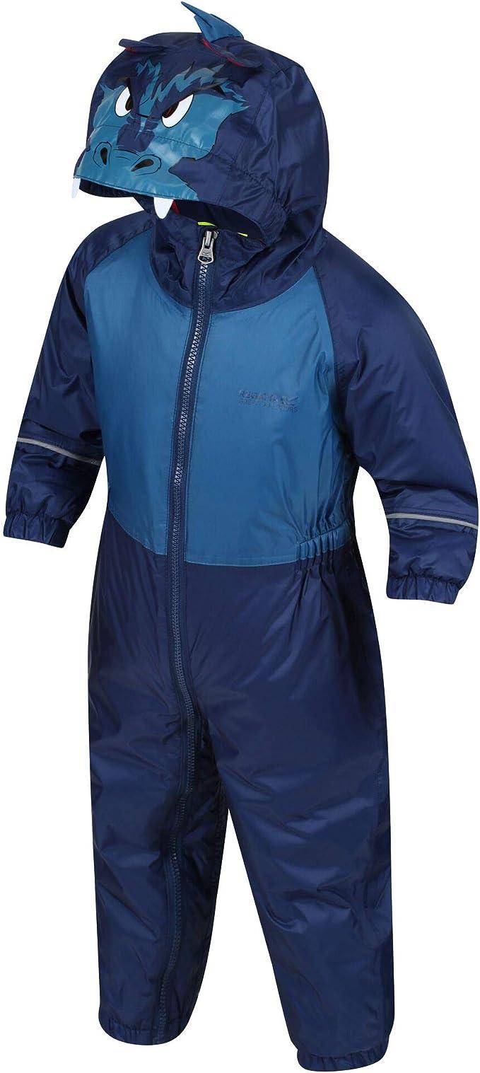 Regatta Children's 'Mudplay Iii' Waterproof Insulated Reflective Suit Overtrousers,Regatta
