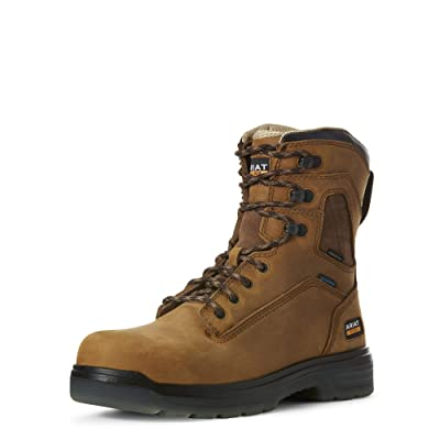 "ARIAT Men's Turbo 8"" Waterproof Carbon Toe Work Boot 