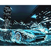 YoungerY (1 Set Pittura Digitale Frameless Wall Art Decorazione 40 * 50 CM-Acqua Ferrari (Alta)