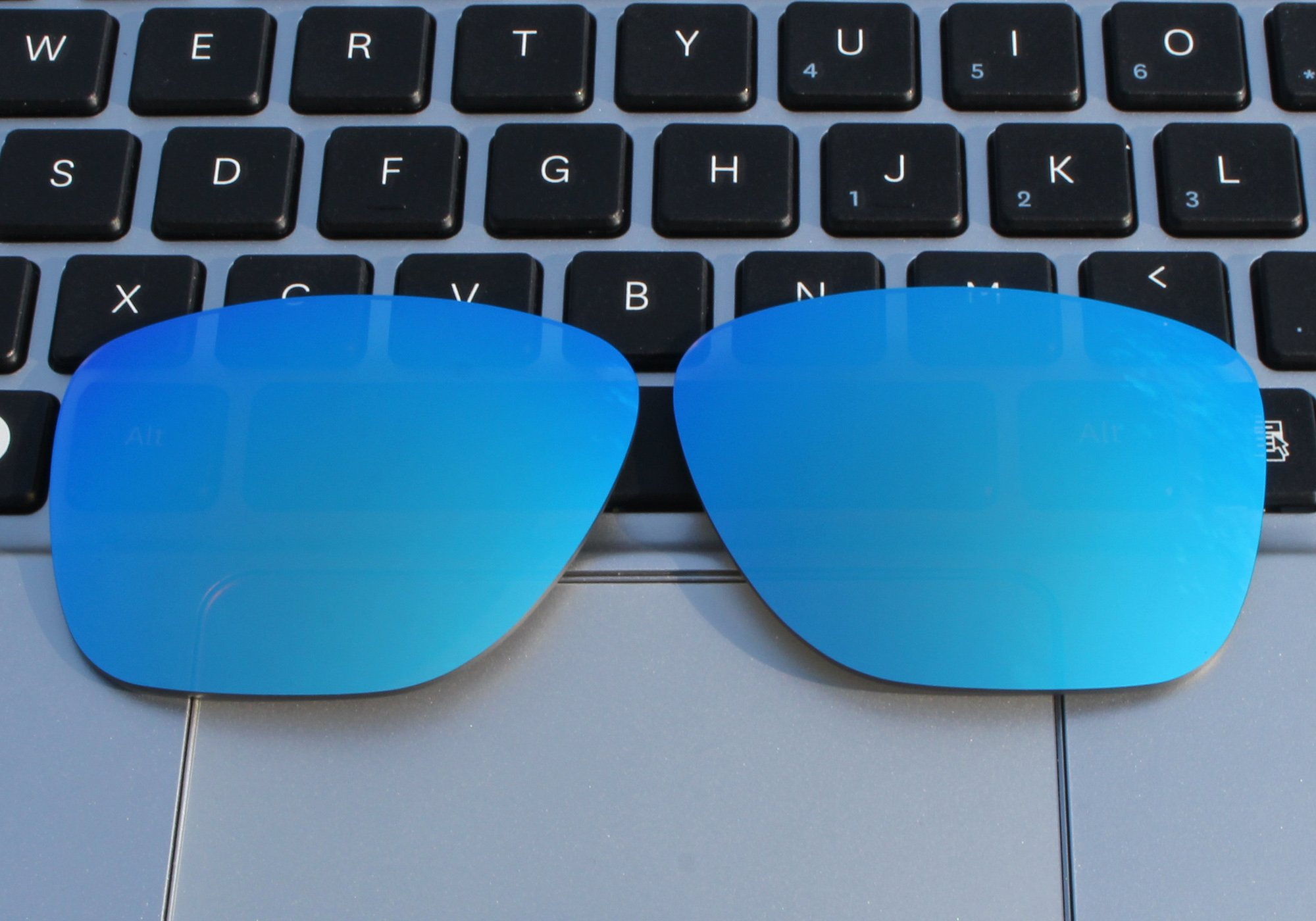 COLOR STAY LENSES 2.0mm Thickness Polarized Replacement Lenses for Oakley Crossrange XL OO9360 Blue Mirror Coatings