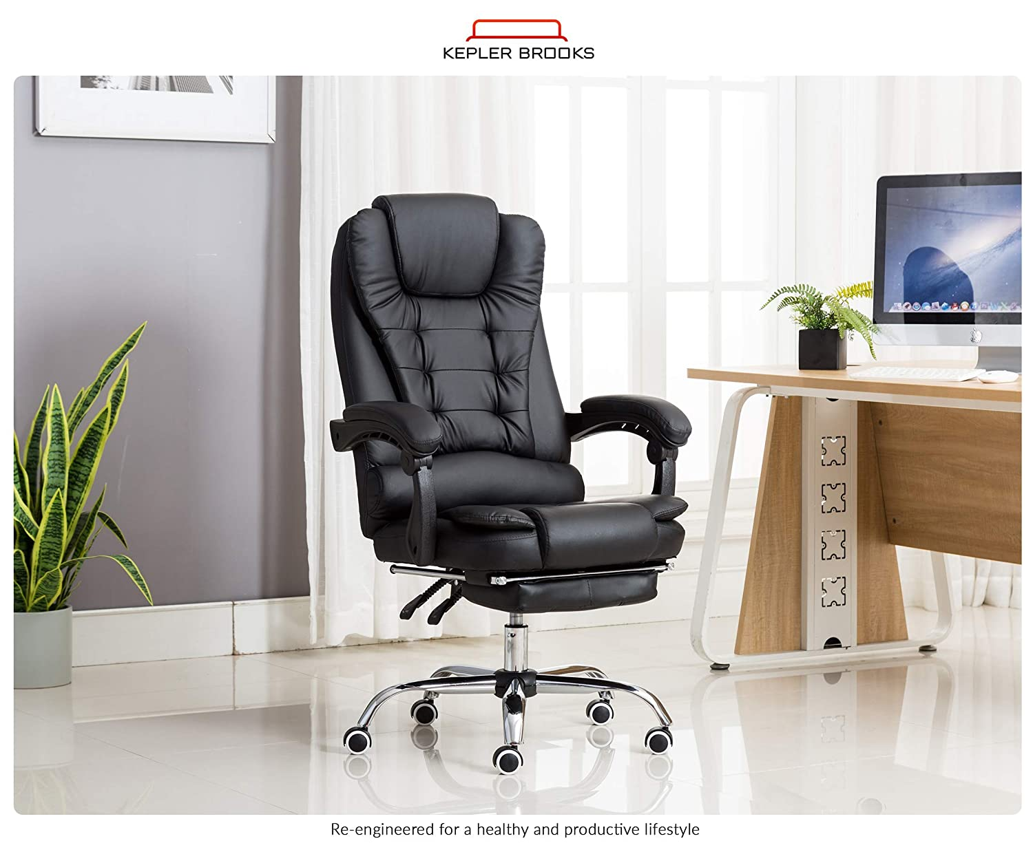 Kepler Brooks Italia High Back Reclining Office Chair with Leg Rest review