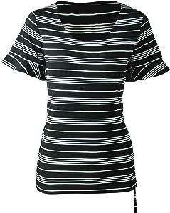 Sweepstakes - STRIPELAND Women's Short Sleeve Round...