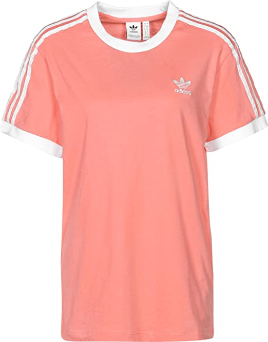 adidas Damen 3-Stripes T-Shirt, Rosa