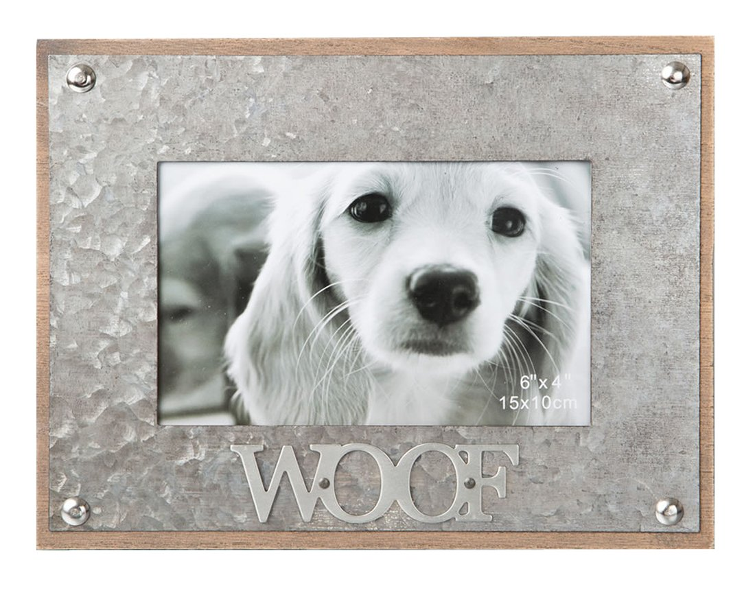 gifts by fashioncraft industrial style metal frame 4 x 6 - WOOF