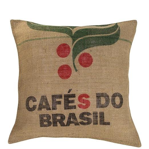 upcycling Almohada Coffee de Saco de café (M, Brasil ...