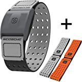 Scosche Rhythm+ Heart Rate Monitor Armband - Optical Heart Rate Armband Monitor with Dual Band Radio ANT+ and Bluetooth Smart