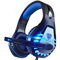 Pacrate Stereo Gaming Headset for PS4, Xbox One, PC with Noise Cancelling Mic - Surround Sound Gaming Headphones - Soft…