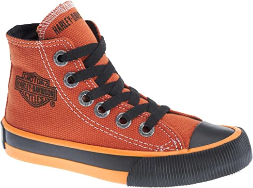 f658e97c0946 Amazon.com  Harley-Davidson Kid s Patch Black Hi-Top Black Athletic ...