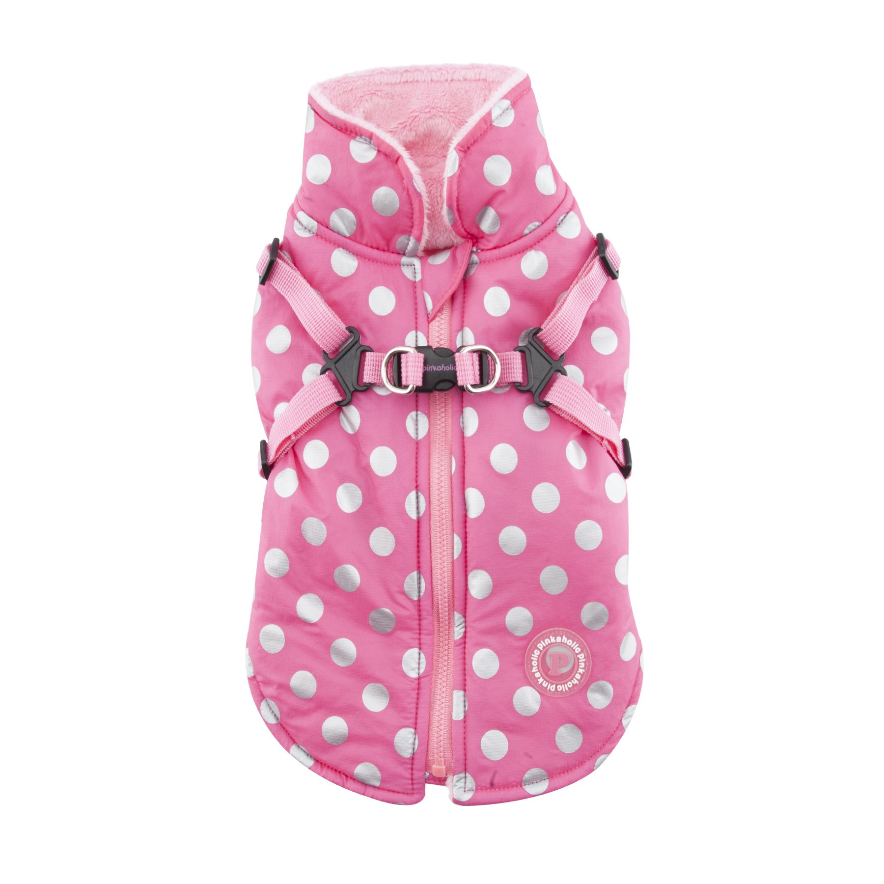 Pinkaholic New York Miss Dotty Winter Fleece Vest, Small, Pink