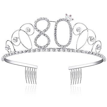Amazon.com: Tiara de cristal para cumpleaños, corona ...