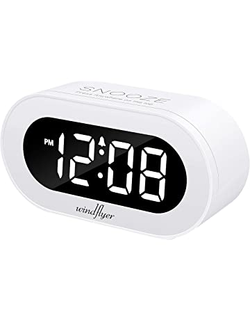Windflyer Small LED Digital Alarm Clock with Snooze 2ecfefe00