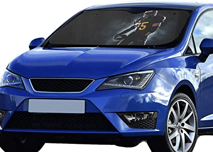 Car Front Windshield Visor With UV Protection Auto Shade W Retractable 140cm