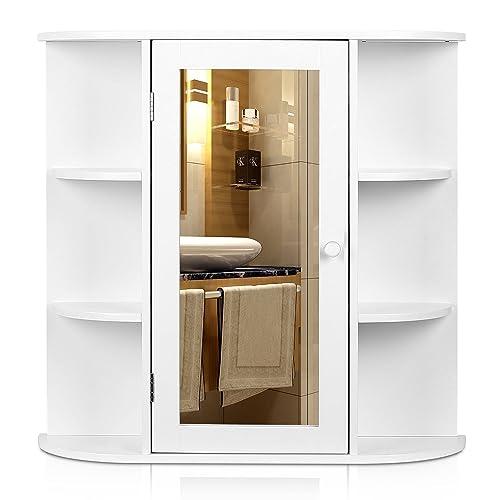 Bathroom Mirror With Shelves Amazon Com