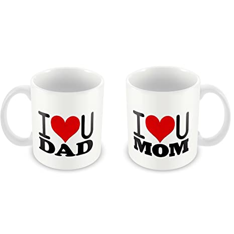 Buy Tuelip Mom Dad Birthday Gifts Anversary I Love You Tea And Coffee Mug 350 ML Online At Low Prices In India
