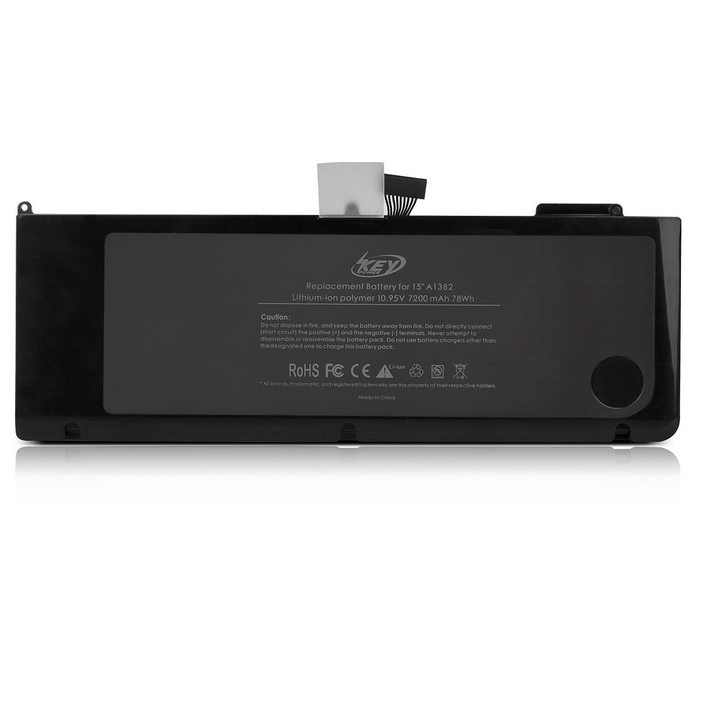 Key Power - Batería para ordenador portátil Apple A1382 A1286 [Core i7 Macbook pro 15 pulgadas] - [Compatible con Early 2011 tarde 2011 Mid 2012] y garantía ...