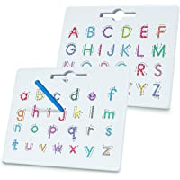 BMAG Magnetic Alphabet Letter Tracing Board, ABC Double-Sided Letter Drawing Board, Read Write Preschool Learning Board…