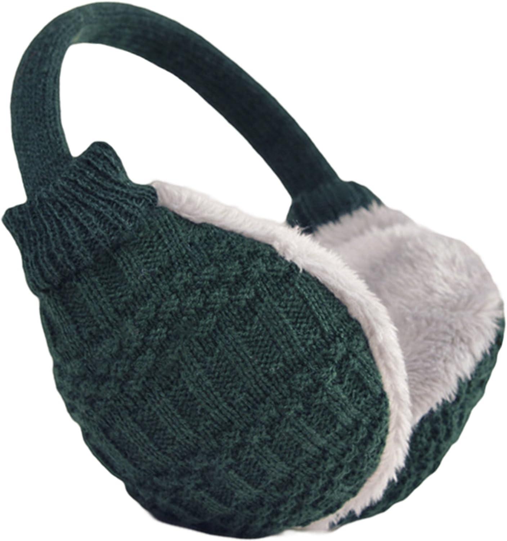 Knolee Unisex Ear Warmers Knit EarMuffs Faux Furry Winter Outdoor EarMuffs