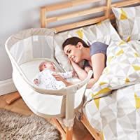 PurFlo Pur Air Keep Me Close Breathable Bedside Crib in Natural - Includes 2 Animal Door Jammers
