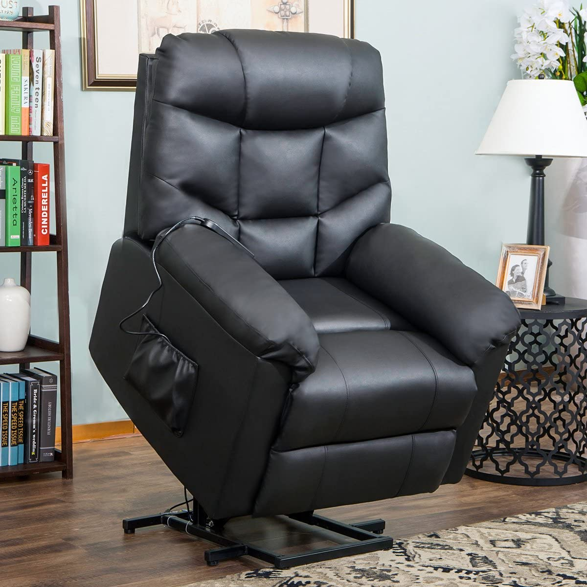 Lift Chairs for Elderly , Reclining Chair Sofa Electric Recliner Chairs with Remote Control Soft PU Lounge