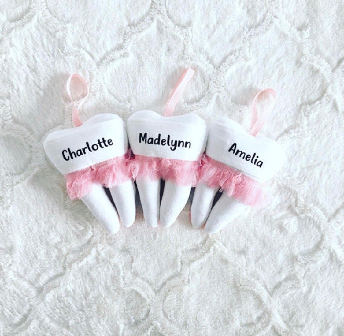 Personalized Tooth Fairy Pillow Bunny