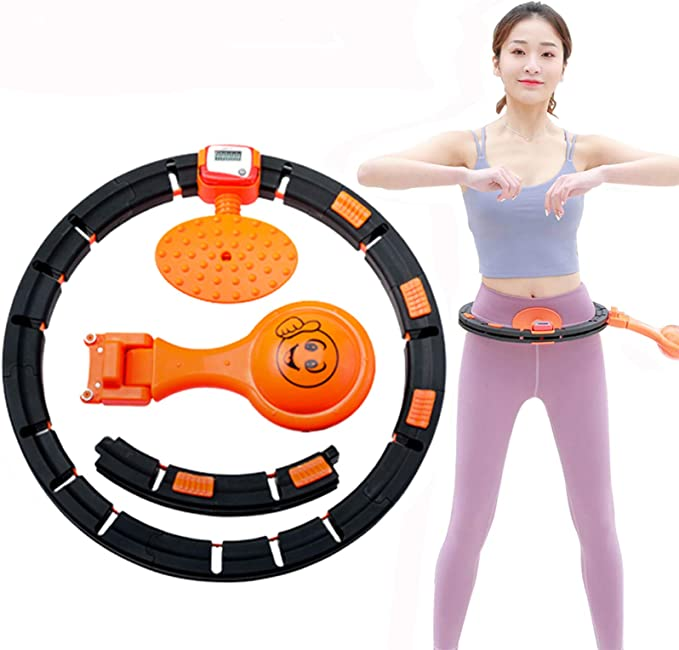 SEYE1/° Magnetic Hula Hoop//Fitness Ring Removable Hula Hoop with Double Rows of Magnetic Massage Beads Can Be Funny Fat Burning