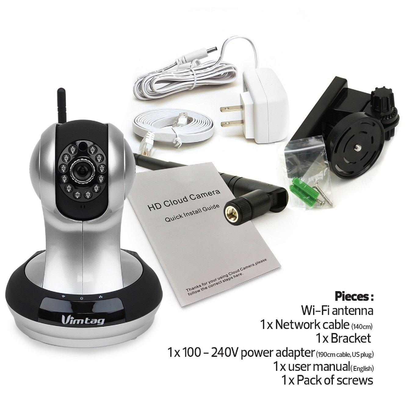 Vimtag VT-361 Super HD WiFi Video Monitoring Surveillance Security Camera
