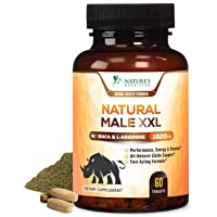 Natural Male XXL Pills Aids Natural Stamina, Strength & Mood - Extra Strength Enlargement...
