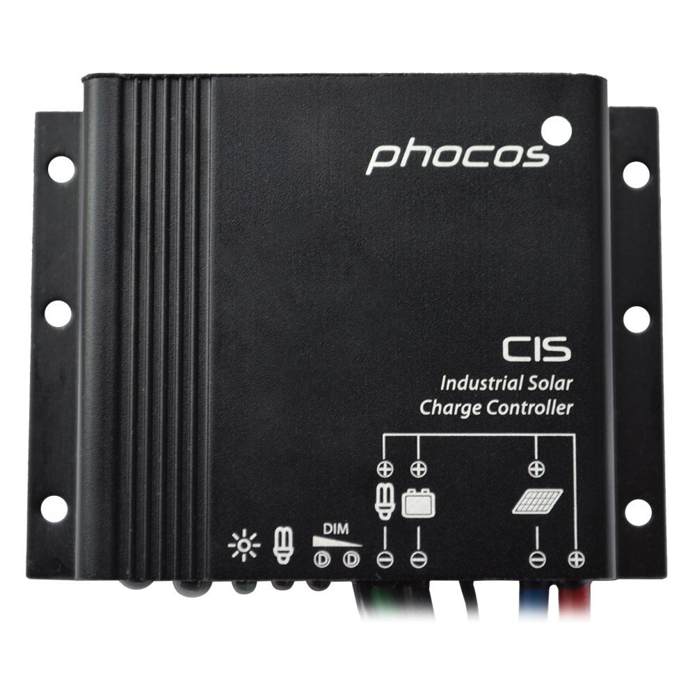 Phocos IP68 10Amp CIS10 Solar Charge Controller 12 24VDC AutoWork Regulator Off Grid Solar Light System for Battery Charging