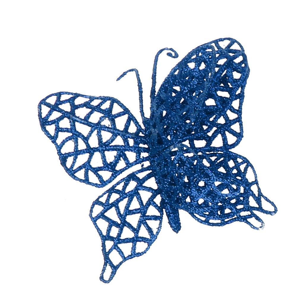 Sconosciuto 6pcs Farfalla Di Natale Ciondoli Per Albero Di Natale Appeso Decorazione Per Casa Nozze Beige
