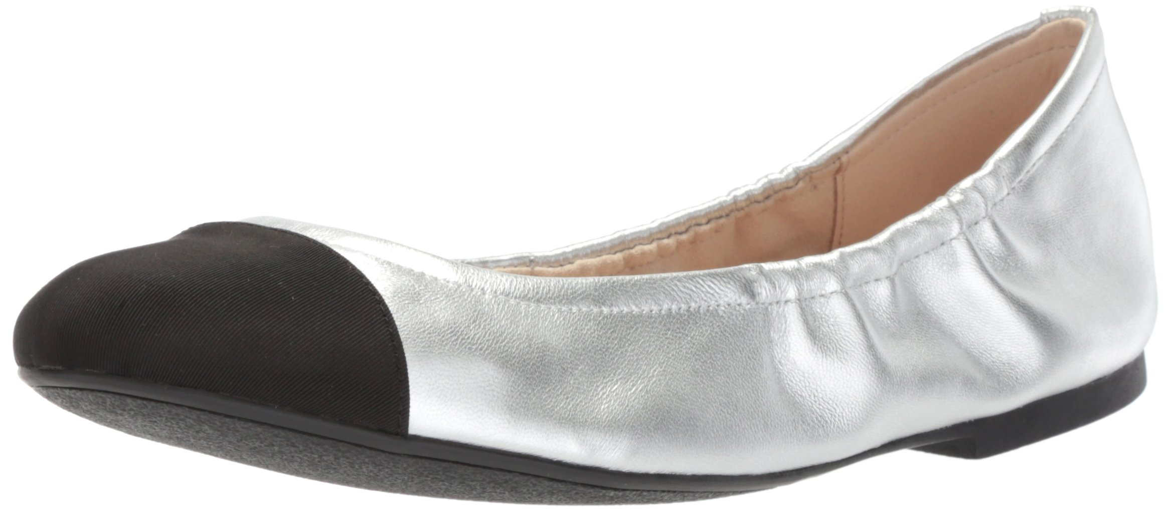 Sam Edelman Women's fraley Ballet Flat, Soft Silver/Black, 7 Medium US by Sam Edelman (Image #1)