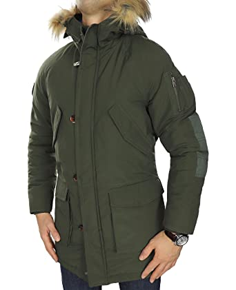 JACK   JONES Herren Parka jorFOREST Jacket Wintermantel Winterjacke Kapuze  dick warm gefüttert abnehmbares Kunstfell ( f01299018c