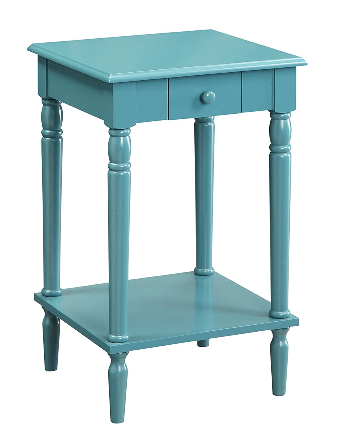 Amazon Com Convenience Concepts French Country End Table Blue